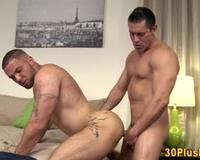 Gay hunk gets butt rammed hardcore