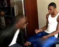 Thugs get down and suck on phat dick