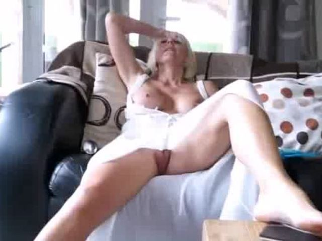 Watching Mom clean and strip naked