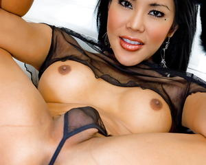 Ladyboy shows off the goods