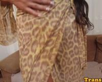 Bigtitted latina transsexual spreads asshole