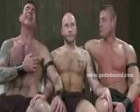 Merciless gay masters with huge muscles