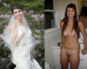 Very talented real amateur brides dressed and undressed