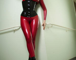 Shoes and rubber fetish