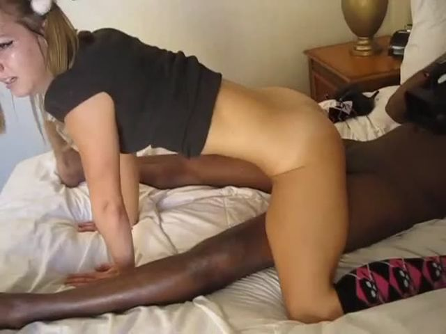 Blonde Teen Enjoying Anal with BBC