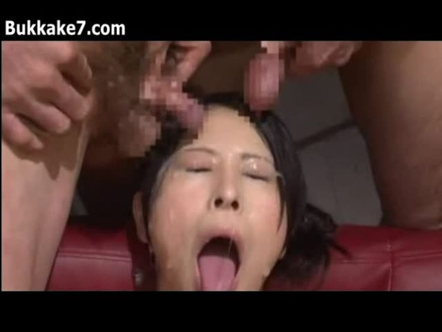 Mature whore crossdresser mariko hot blowjob and get facail.