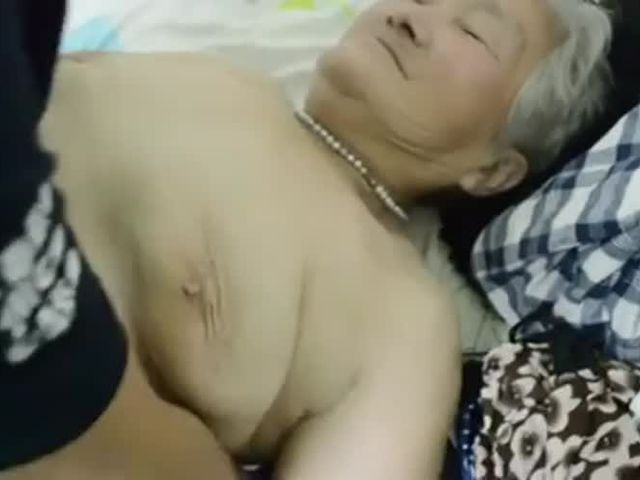 80yr old Japanese Granny Still gets Creamed