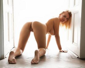 On Nude all fours redhead