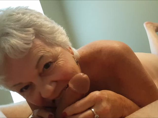 Incest - another blowjob grandma Darlene (REAL)->