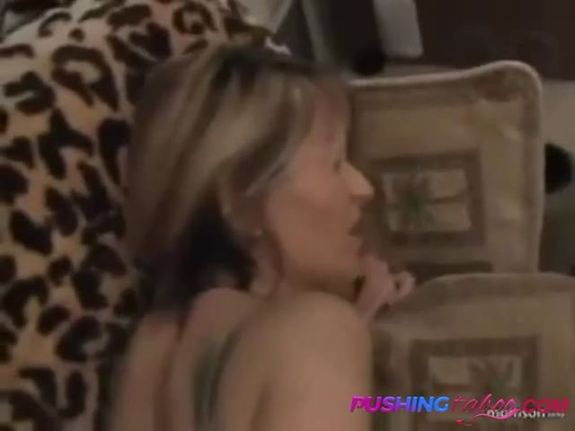 Short hair blonde stepmom jumps sons cock on tape.mp4->