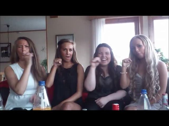 Candid sexy teen girls party Norway  (HD)