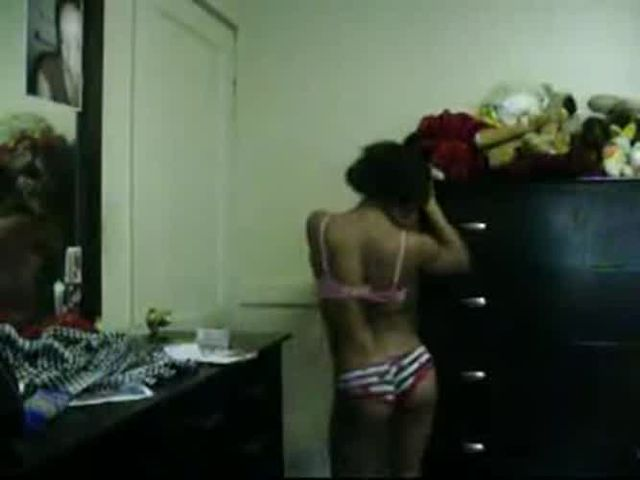 petite young black girl sexy slow strip dance