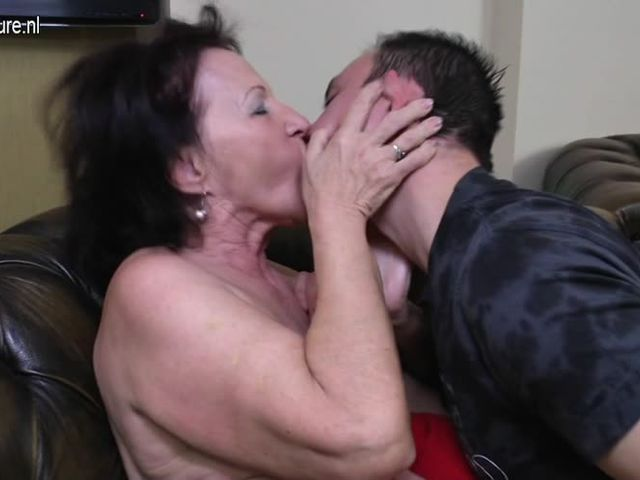 Old granny fucked by her young boy  [3:23x336p]->