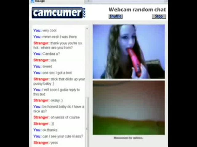 Two teen girls playing on omegle