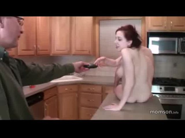 Dad masturbates to his daughter and son fucking on