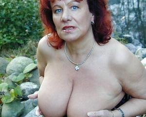 saggy with tits mature Redhead
