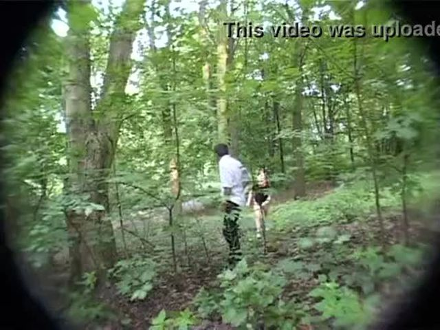 Petite blond girl molested in the woods
