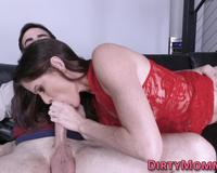 Milf blows huge cock and gets fucked