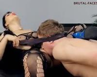 Slut with open pussy