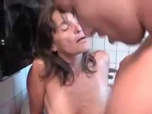 Fucking my best friends mom in the kitchen