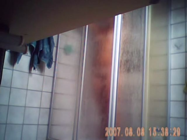 Younger sister in shower