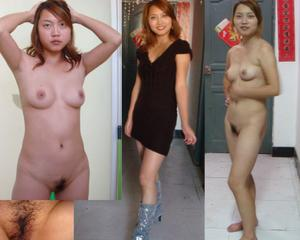 Asian Women Dressed And Undressed