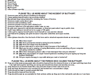 Motherless Butthurt Report Form