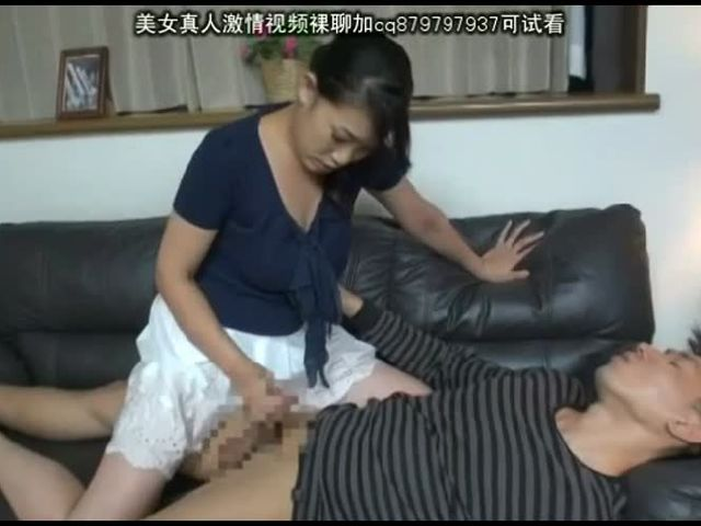 japanese moms handjob with kissing