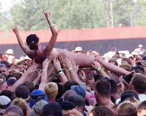 Know, nude girl crowd surfing naked