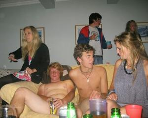 Guys naked party