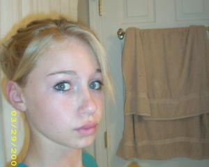 Pics of my sister on my dad old computer