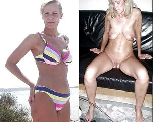 Blonde milf dressed undressed can look