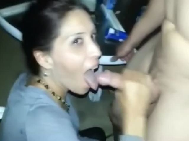 Married MILF sucking the cum out of a cock in front of husband  friends.mp4