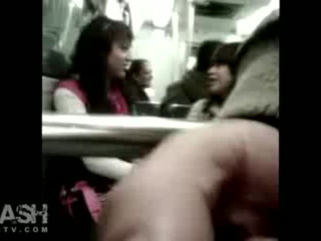 Bus Dickflash for 2 Mexican Girls on Bus