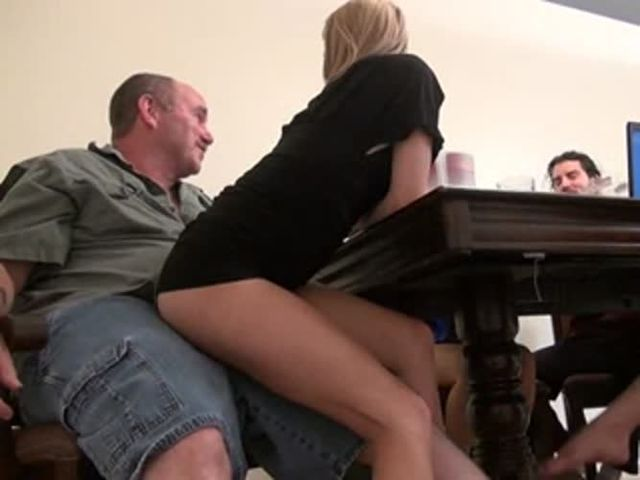 Secretly Fucking Daddy In Front Of Friends