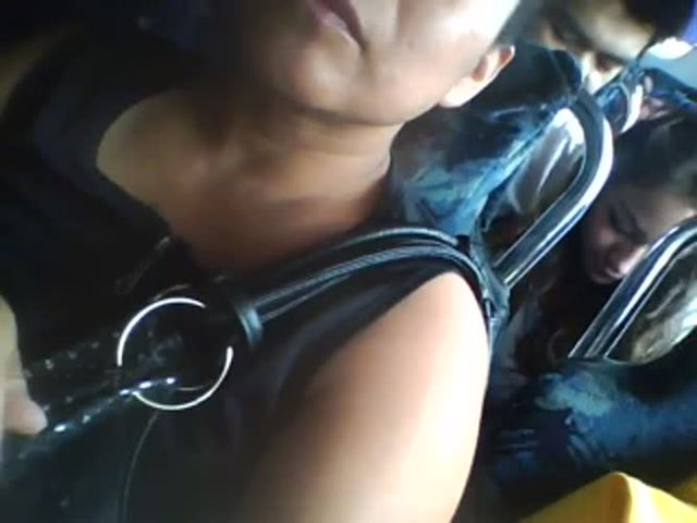 Touching tits in bus and grooped - xHamstercom.flv