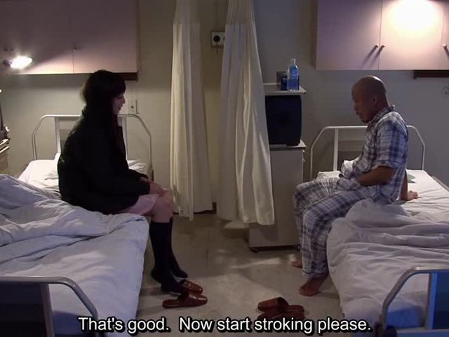 Subtitles occult Japanese hospital handjob