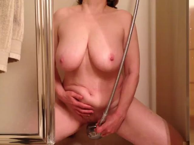 Watching mom cum hard in the shower