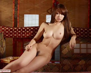 Rie is a sexy and young japanese nude geisha
