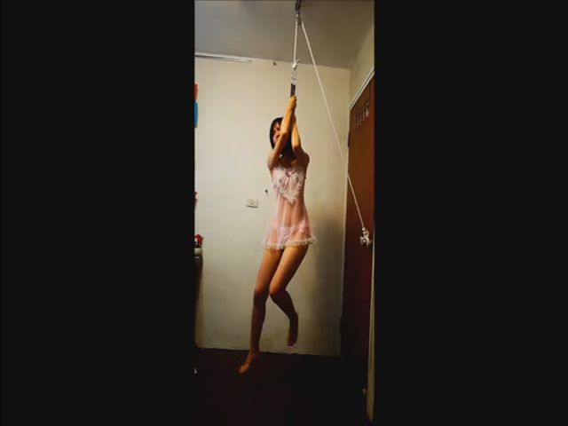 asian girl hanging