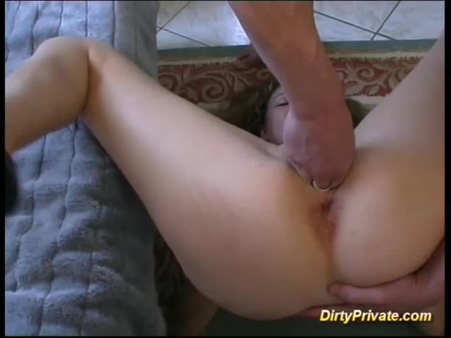 black cock inside two asian buttholes