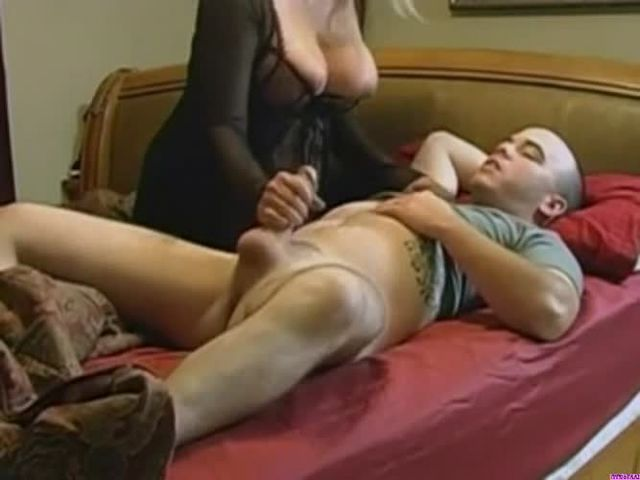 mom rewards son with a fuck and handjob
