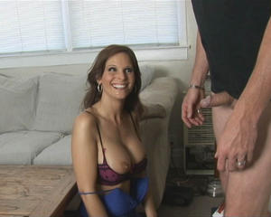 wondering milf sexy bra knows how treat woman